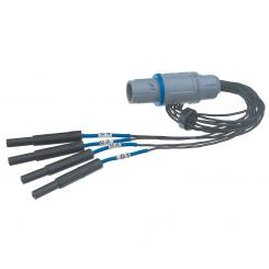 Adaptor cable 1/4 for grid electrode cable