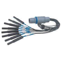 Adapterkabel 1x8 für Gridelektrodenkabel