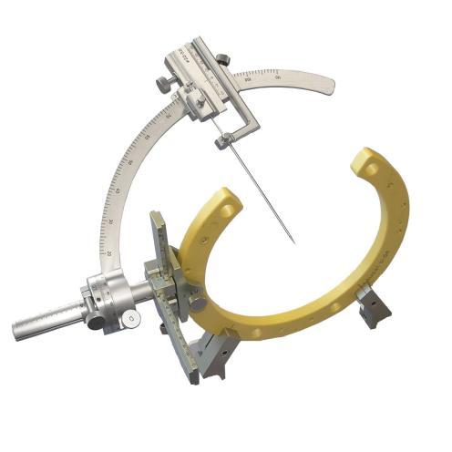ZD-Zielbügeleinheit mit Mikro- metervortrieb, bestehend aus: